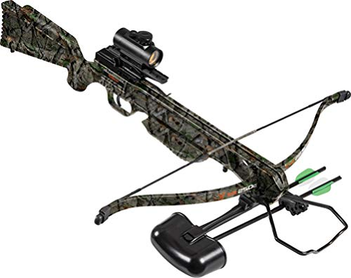 Wildgame Innovations XR250C Crossbow - Shoots 250 Feet Per Second Quiver, 2-18' Arrows, RCD & Red Dot Scope, Elude Camo
