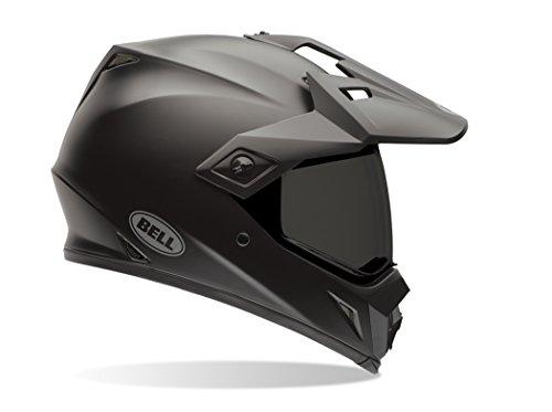 Bell Solid Men's MX-9 Adventure Dirt Bike Motorcycle Helmet - Matte Black/Medium