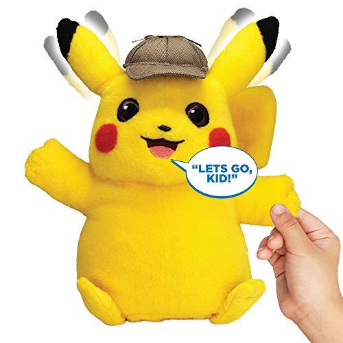 Pokémon Detective Pikachu Movie Interactive Talking Plush - 2 Voice Modes - 12' - Ages 2+