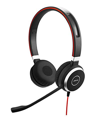 Jabra Evolve 40 Professional Wired Headset, Stereo, MS-Optimized – Telephone Headset for Greater Productivity, Superior Sound for Calls and Music, 3.5mm Jack/USB Connection, All-Day Comfort Design
