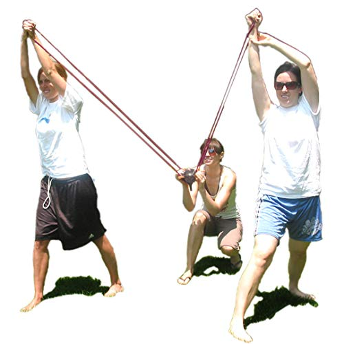 Water Balloon Launcher Slingshot 500 Yards Long Range, 2-3 Person Balloon Giant Sling shot T-shirt Launcher Cannons, Angry Birds Party Game Yard Toys, 500 Biodegradable Balloons and Tote Bag Included