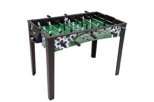 Sport Squad FX48 - 48' Foosball Table for Adults and Kids - Arcade Table Soccer Game for the Basement or Game Room - Quick and Easy Assembly - Manual Scorers and Chrome Plated Steel Rods