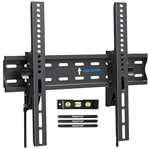 MOUNTUP Tilting TV Wall Mount Bracket for 26-55 Inch Flat Screen TVs/ Curved TVs, Low Profile TV Wall Mount TV Bracket - Easy to Install On 12' or 16' Studs, VESA 400x400mm Weight up to 99 LBS, MU0007