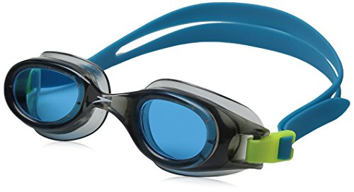 Speedo Unisex-child Swim Goggles Hydrospex Ages 6-14, Grey/Blue