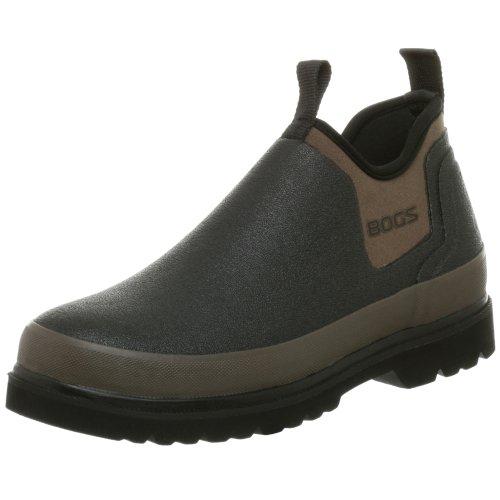 Bogs Men's Tillamook Bay Waterproof Slip On Rain Boot, Black, 11 M