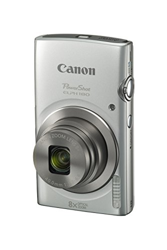Canon PowerShot ELPH 180 Digital Camera w/ Image Stabilization and Smart AUTO Mode (Silver), 0.90in. x 3.70in. x 2.10in. - 1093C001