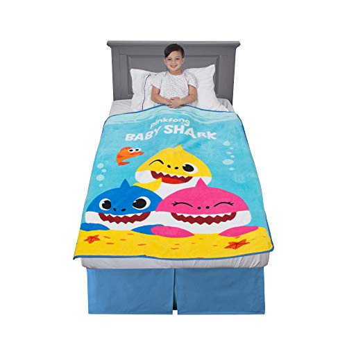 Franco Kids Bedding Super Soft Plush Throw, 46' x 60', Baby Shark
