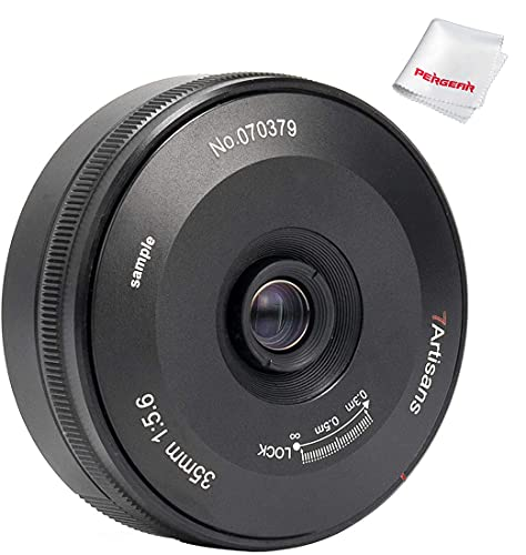 7artisans 35mm F5.6 Full-Frame Manual-Focus Pancake Lens, Compatible with Nikon Z-Mount Cameras Z5 Z6 Z7 Z6 II