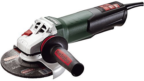 Metabo- 6' Angle Grinder - 9, 600 Rpm - 13.5 Amp W/Electronics, Non-Lock Paddle (600488420 15-150 Quick), Professional Angle Grinders