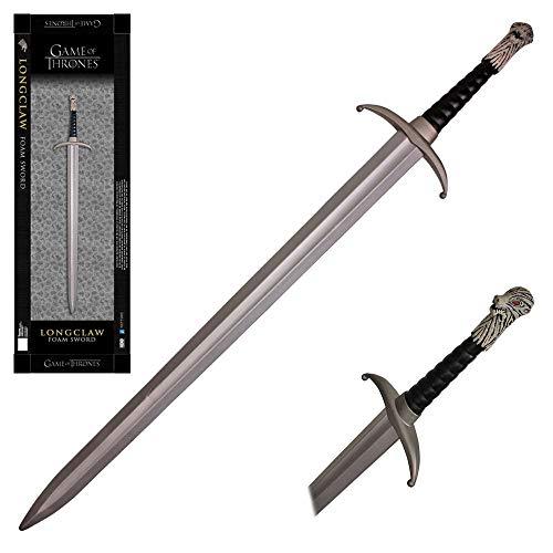 KCCEDGE BEST CUTLERY SOURCE Game of Thrones Foam Swords Jon Stark Longclaw White Walker Ice Blade Ice Sword Needle Catspaw Lannister's Sword Oathkeeper Widow's Wail 75042 (45' Foam Longclaw Sword)