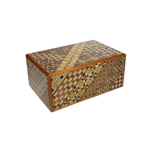 Yosegi Japanese Puzzle Box 5 sun - 27 steps