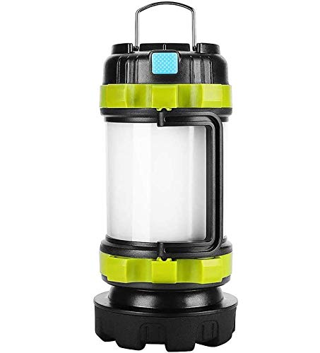 Rechargeable LED Camp Lantern USB Charge Portable Brightest Camping Light with 800LM 4 Modes IPX45 Water Resistant Lightweight Flashlight Perfect for Camping Hiking Emergency Condition and More