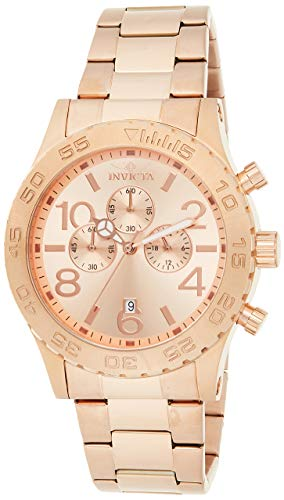 Invicta Men's Specialty Rose Gold Tone Stainless Steel Quartz Chronograph Watch, Gold (Model: 1271)