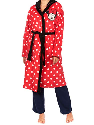 Disney Womens' Minnie Mouse Robe Size Small Red
