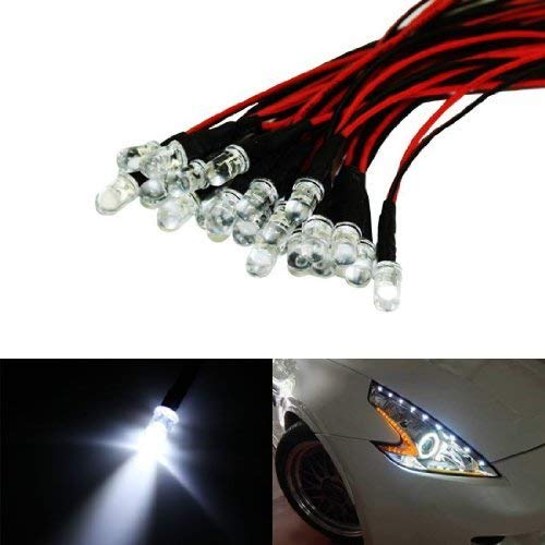 iJDMTOY (20) Xenon White 12V LED Emitter Lights Compatible With Headlights Daytime Running Lights Angel Eyes Fog Retrofit DIY use