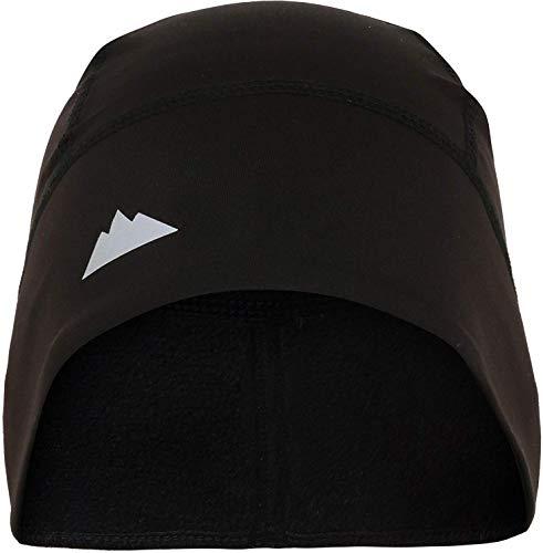 Skull Cap/Helmet Liner/Running Beanie - Ultimate Thermal Retention and Performance Moisture Wicking - Fits Under Helmets Black