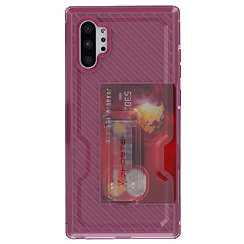 Ghostek Iron Armor Belt Clip Galaxy Note 10 Plus Case with Kickstand and Card Holder Slim Shockproof Design Heavy Duty Protection Wireless Charging Compatible 2019 Galaxy Note10+ 5G (6.8 Inch) - Pink