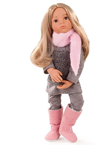 Gotz Emily 19.5' Happy Kidz Poseable Vinyl Multi-Jointed Doll with Long Blonde Hair to Wash & Style and Brown Eyes