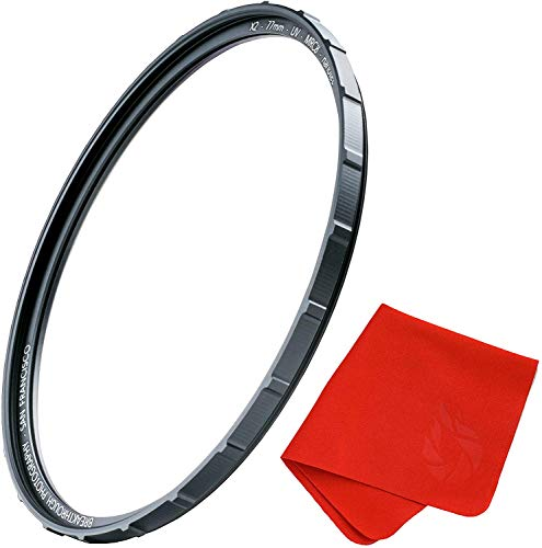 95mm X2 UV Filter for Camera Lenses - UV Protection Photography Filter with Lens Cloth - MRC8, Nanotec Coatings, Ultra-Slim, Traction Frame, Weather-Sealed by Breakthrough Photography
