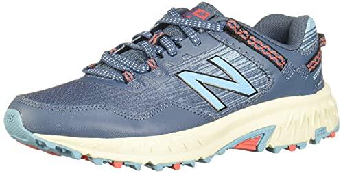 New Balance Women's 410 V6 Trail Running Shoe, Stone Blue/Wax Blue, 8 M US