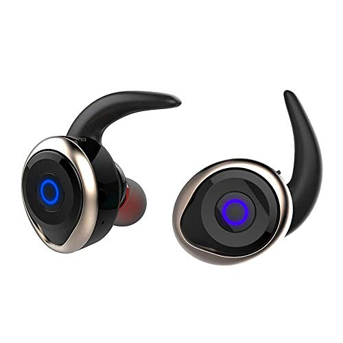 XUERUIGANG Wireless Earbuds, Bluetooth 4.2 in-Ear Headset Touch Control True Wireless Headphones, Stereo Earphones with Built-in Mic for Sports Running (Colour: Black) (Color : B)