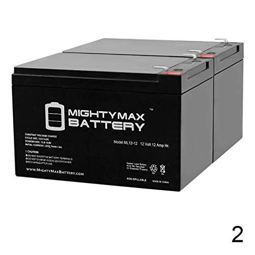 Mighty Max Battery 12V 12A F2 Super Cycles Scooter Super Turbo 800-Elite Battery - 2 Pack Brand Product