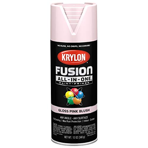 Krylon K02717007 Fusion All-In-One Spray Paint for Indoor/Outdoor Use, Gloss Pink Blush