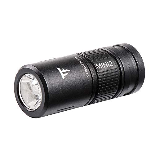 TrustFire MINI2 220 Lumens Keychain EDC Flashlights MINI USB Rechargeable Flash Light LED Torch Key Ring Torch Lightweight Pocket Lights with 10180 Lithium Battery Small Perfect For Camping Hiking Hunting Backpacking Fishing and BBQ