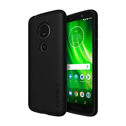 Incipio Octane Moto G6 Play Case with Textured Bumper and Hard Shell Back for Moto G6 Play - Black/Smoke