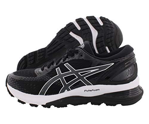 ASICS Women's Gel-Nimbus 21 Running Shoes, 9M, Black/Dark Grey