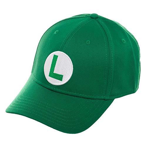 Super Mario Bros Luigi Green Baseball Cap