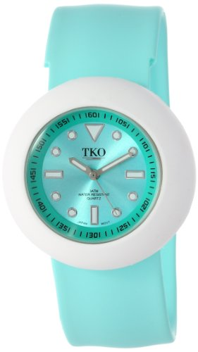 TKO ORLOGI Women's TK590-TWT Turquoise Rubber Slap Watch