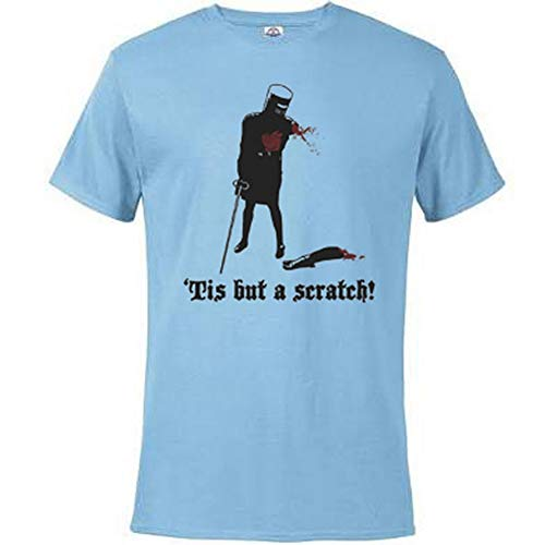 Tis but a Scratch - Monty Python T-Shirt Humorous Funny Novelty Shirt - Light Blue Large