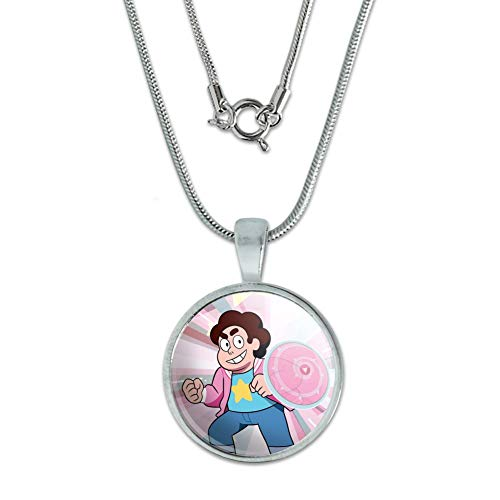 GRAPHICS & MORE Steven Universe Steven Shield 0.75' Pendant with Sterling Silver Plated Chain