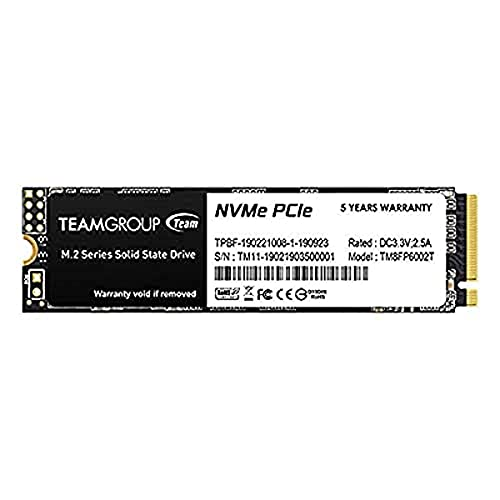 TEAMGROUP MP33 512GB SLC Cache 3D NAND TLC NVMe 1.3 PCIe Gen3x4 M.2 2280 Internal Solid State Drive SSD (Read/Write Speed up to 1,700/1,400 MB/s) Compatible with Laptop & PC Desktop TM8FP6512G0C101