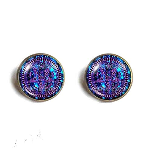 Handmade Fashion Jewelry Pentagram Art Symbol Black Butler Ear Cuff Earring Cosplay Tetragrammaton Ciel Phantomhive Jewelry Cute Gift