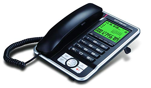 DTI DTP035 Big-Button Corded Phone with Caller ID, Speakerphone, Hands-Free Dialing and Speaking Function, 16 Outgoing Call Memories, LCD Display and 20 Ringer Tone Selection