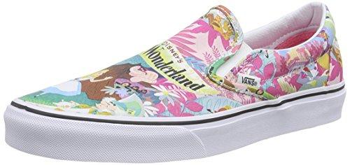 Vans Disney Womens Pink Alice in Wonderland Slip On Sneakers-UK 6