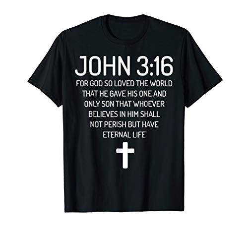 John 3:16 Bible Verse Scripture Christian T-Shirts