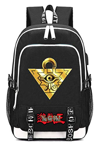 Gumstyle Yu Gi Oh Anime Multifunction Schoolbag Travel Bag Laptop Backpack with USB Charging Port and Headphone Jack 3