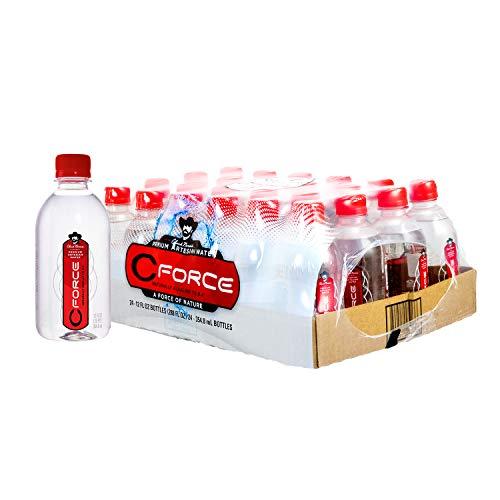 CForce Natural Artesian Bottled Water, Naturally High pH + Alkaline, 12 oz (354.8ml) (Pack - 24)