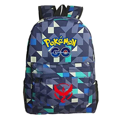 Kids Cartoon Pokemon Backpack School Rucksack Backpack for Boys Girls One Size