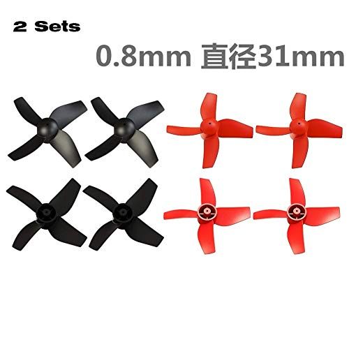 Vehicles-OCS 2Pairs 31mm Indoor Drone Micro Propeller 0.8mm Shaft Coreless Motor Paddle Poke FPV H36 E010 Prop Parts for RC Quadcopter