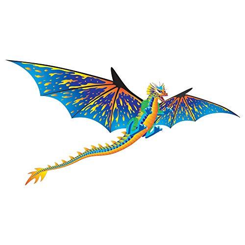 WindNSun Super Size 3D Nylon Kite, Blue Dragon, 76 Inches Wide