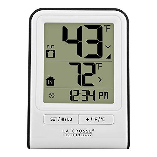 La Crosse Technology 308-1409WT-CBP Wireless Temperature Station, White