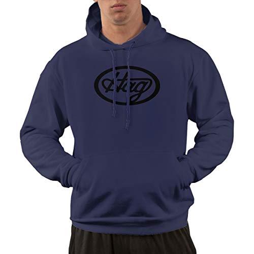 AlbertV Mens Merle Haggard Hoodies Hooded Sweatshirt with Pocket 3XL Navy