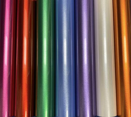 "Siser EasyWeed Electric, Pearlescent Metallic Iron On Heat Transfer Vinyl, Choose 5 Colors, 12""x 15"""