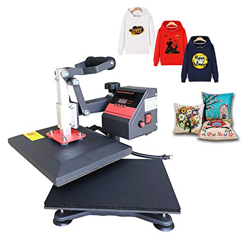 Heat Press 9X12 inch Heat Press Machine Printing Swing Away Transfer Sublimation Heat Press Machine for T-Shirt Teflon Sheet Included