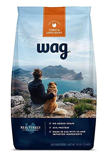 Amazon Brand - Wag Dry Dog Food Turkey & Lentil Recipe (30 lb. Bag)