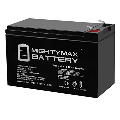 Mighty Max Battery ML8-12 - 12V 8AH Replacement for APC Back-UPS ES 500 Battery Brand Product